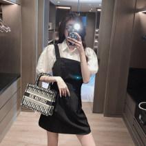 Fashion suit Summer 2021 S,M,L Black skirt , white shirt XYC21Y4M21P02