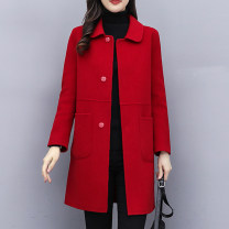 woolen coat Winter 2020 S,M,L,XL,2XL,3XL,4XL other 30% and below Medium length Long sleeves commute Single breasted Doll Collar Solid color Self cultivation Korean version Other / other 30-34 years old Imitation fabric