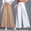 Casual pants Light camel light caramel white red green black Summer of 2018 trousers Wide leg pants High waist commute Thin money 35-39 years old 998#