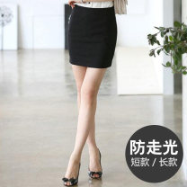 skirt Summer of 2018 Xs, s, m, l, XL, 2XL, 3XL, 4XL, 5XL, warm tips: standard size, buy at ease Short black, long black, short blue, long blue Short skirt commute Natural waist skirt Solid color Type A 18-24 years old Short 0676 & long 0676-1 91% (inclusive) - 95% (inclusive) Yi Aifu residence