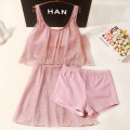 one piece  Xuan Zhiqi M,L,XL Pink Skirt one piece With chest pad without steel support female