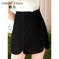 skirt Summer 2021 XS S M L XL black Short skirt commute High waist A-line skirt Solid color Type A 25-29 years old 51% (inclusive) - 70% (inclusive) Tammy Tang / Tangli Viscose lady Viscose (viscose) 61.5% polyester 38.5% Same model in shopping mall (sold online and offline)