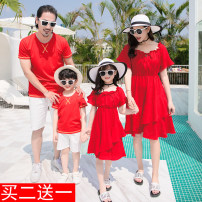 Parent child fashion Red suit A family of three Female, male Other / other Mom s, mom m, mom L, mom XL, mom XXL, Dad m, Dad L, Dad XL, Dad XXL, Dad XXXL, boy 90, boy 100, boy 110, boy 120, boy 130, boy 140, boy 150, boy 160, girl 90, girl 100, girl 110, girl 120, girl 130, girl 140, girl 150 summer