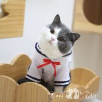 Pet clothing currency S (bust 32, back length 20), m (bust 37, back length 25), l (bust 42, back length 30), XL (bust 47, back length 35), shop does not sell secondary sales products, please rest assured to buy White + blue