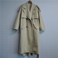 Windbreaker Spring 2020 Average size khaki Nine point sleeve routine have more cash than can be accounted for commute double-breasted tailored collar Solid color Korean version HSG0408 25-29 years old cotton cotton