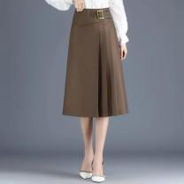 skirt Spring 2021 M 2'0, L 2'1, XL 2'2, 2XL 2'3, 3XL 2'4, 4XL 2'5 Black, khaki longuette commute High waist Irregular Solid color 71% (inclusive) - 80% (inclusive) other cotton Korean version 401g / m ^ 2 (inclusive) - 500g / m ^ 2 (inclusive)