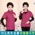 Vest Autumn 2020 XL,2XL,3XL,4XL,5XL routine stand collar Original design Solid color zipper I-shaped 40-49 years old Other / other Silk like cotton