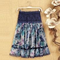skirt Summer 2020 L [suggest 1'9-2'1 waistline], XL [suggest 2'1-2'3 waistline], XXL [suggest 2'3-2'5 waistline], 3XL [suggest 2'5-2'8 waistline], [free shipping insurance - no worry about return], [collection first delivery! 】 1, 2, 3, 4, 5, 6, 7, 8, 9 Mid length dress Versatile High waist Type A