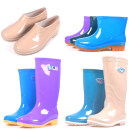 Rain shoes 36,37,38,39,40,41 Other / other Middle cylinder female Solid color spring and autumn Chinese Mainland