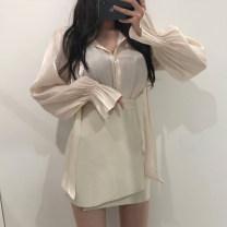 skirt Autumn 2020 S,M,L Black, apricot Short skirt commute High waist Irregular Solid color Type A 25-29 years old X23530 81% (inclusive) - 90% (inclusive) other PU Asymmetric, zipper Korean version 401g / m ^ 2 (inclusive) - 500g / m ^ 2 (inclusive)