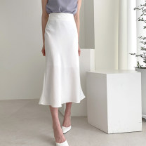 skirt Summer of 2019 S,M,L Apricot, white Mid length dress commute High waist skirt Solid color Type H 25-29 years old X19996 81% (inclusive) - 90% (inclusive) other other zipper Korean version 401g / m ^ 2 (inclusive) - 500g / m ^ 2 (inclusive)