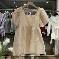 Dress Summer 2021 Picture color S,M,L Short skirt singleton  Short sleeve Socket other puff sleeve