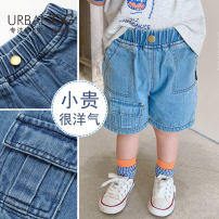 trousers UrbanOG neutral 73cm,80cm,90cm,100cm,110cm,120cm,130cm,140cm Light blue, dark blue summer shorts Korean version There are models in the real shooting Jeans Leather belt middle-waisted Pure cotton (100% content) Open crotch Cotton 100% 0306-1 other Chinese Mainland Guangdong Province