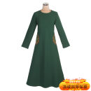 Dress Winter 2020 G15 × Yifei green, G15 × Yifei purple M,L,XL,2XL,3XL longuette singleton  Long sleeves commute Crew neck middle-waisted Solid color Socket A-line skirt routine 30-34 years old Type A Embroidery polyester fiber