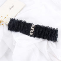 Belt / belt / chain cloth Black, white female Waistband Versatile Single loop Youth, youth, middle age, old age Smooth button Flower design soft surface 9cm alloy Weave, hollow out, lace, elastic