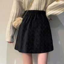 skirt Winter of 2019 XS,S,M Brown, black Short skirt commute High waist A-line skirt Solid color Type A 18-24 years old 71% (inclusive) - 80% (inclusive) Korean version