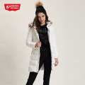 Down Jackets Winter of 2018 Fifth Street White, black S,M,L,XL White duck down 80% Medium length Long sleeves thickening zipper Hood Sweet Straight cylinder Solid color 200g (including) - 250g (excluding) 25-29 years old polyester