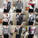 shirt Youth fashion Others M,L,XL,2XL,3XL Yellow, gold, gray, transparent, black and white, gray, h622 white, h622 black, h861 white, platinum, black gold, color, black and white Thin money Pointed collar (regular) Long sleeves Self cultivation Other leisure Four seasons GRH6240581036248526126 youth