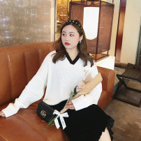 Women's large Winter 2020 white Large XL, large XXL, large XXL sweater singleton  commute easy thick Socket Long sleeves Solid color Korean version Polo collar routine other Collage routine Monica 25-29 years old 31% (inclusive) - 50% (inclusive)
