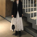 skirt Autumn of 2019 Average size Suit jacket, skirt Mid length dress commute High waist A-line skirt Type A 18-24 years old Other / other Korean version