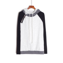 Sweater / sweater Spring 2021 grey S,M,L,XL Long sleeves routine Socket singleton  routine Hood easy commute routine Korean version Splicing