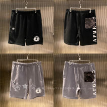 Casual pants Aape Fashion City Black BKX, gray gyl S,M,L,XL,2XL Shorts (up to knee) Other leisure Straight cylinder