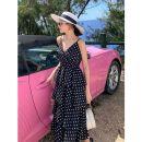 Dress Spring 2021 black S,L,M Mid length dress singleton  middle-waisted Socket Cake skirt