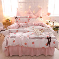 Bedding Set / four piece set / multi piece set cotton other Splicing 133x72 Dream of excellence cotton 4 pieces 40 Strawberry, cherry, letter, Dina, sea of flowers, Firebird, lovely rabbit, girl, sweetheart Bed skirt Qualified products Princess style 100% cotton twill Reactive Print  cbgs