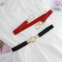 Belt / belt / chain Pu (artificial leather) female Waistband Versatile Single loop Double buckle other 2.5cm alloy