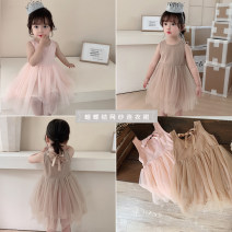 Dress female Yoehaul / youyou 73cm,80cm,90cm,100cm,110cm,120cm Cotton 90% other 10% summer lady Skirt / vest other other Pleats 12 months, 9 months, 18 months, 2 years old, 3 years old, 4 years old, 5 years old, 6 years old Chinese Mainland Zhejiang Province Huzhou City