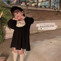 Dress female Yoehaul / youyou 73cm,80cm,90cm,100cm,110cm,120cm,130cm,140cm Other 100% spring and autumn lady Long sleeves other blending Lotus leaf edge 12 months, 6 months, 9 months, 18 months, 2 years old, 3 years old, 4 years old, 5 years old, 6 years old Chinese Mainland Zhejiang Province