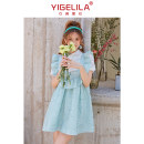 Dress Polyamide fiber (nylon) 100% Pure e-commerce (online sales only) Summer 2021 Short sleeve Short skirt Two piece set commute Polo collar High waist 18-24 years old routine zipper A-line skirt Solid color More than 95% lady nylon Yigelila 66557 S M L
