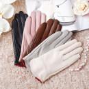 glove Sheepskin female Average size Finger gloves friend LV003