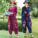 Fashion suit Spring 2021 L,XL,XXL,XXXL Sapphire blue, jujube red Over 35 years old Other / other 51% (inclusive) - 70% (inclusive) hemp
