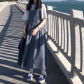 Dress Summer 2021 Blue, yellow Average size singleton  Sleeveless commute other High waist Solid color Socket straps Korean version 31% (inclusive) - 50% (inclusive) cotton