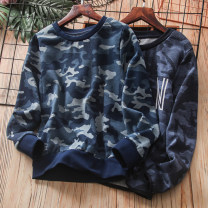 T-shirt Other / other male spring and autumn Long sleeves Crew neck leisure time No model nothing cotton stripe Cotton 80% polyester 20% Class B Sweat absorption Four, five, six, seven, eight, nine, ten, eleven