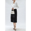 skirt Spring 2021 M,L,XL black longuette commute High waist D2102 More than 95% polyester fiber