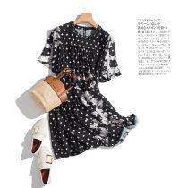 Dress Summer of 2018 black M L XL Mid length dress singleton  Short sleeve commute Crew neck Socket More than 95% polyester fiber