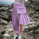 skirt Autumn of 2018 L,M,S Black, purple Short skirt street Pleated skirt Solid color 18-24 years old 51% (inclusive) - 70% (inclusive) other other
