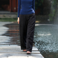 Casual pants Black cotton pants, red cotton pants, blue-green cotton pants M, L Winter 2020 trousers Straight pants High waist Versatile routine 30-34 years old 96% and above Rainbow clothes and cloud clothes hemp hemp
