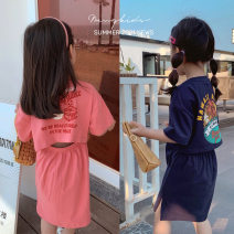 Dress Watermelon powder, sapphire, sapphire female Maimaiqiu 80, 90, 100, model, 110, 120, 130, 140, 150 Cotton 95% other 5% summer Korean version Short sleeve printing cotton A-line skirt XB3220 Class B 2, 3, 4, 5, 6, 7, 8, 9, 10 years old Chinese Mainland Guangdong Province Dongguan City