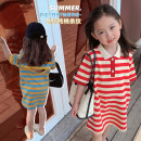 T-shirt Blue yellow stripe, red white stripe Maimaiqiu 80, 90, 100, model, 110, 120, 130, 140, 150 female summer Short sleeve Crew neck Korean version There are models in the real shooting nothing cotton stripe Cotton 95% other 5% XA3247 Class B 2, 3, 4, 5, 6, 7, 8, 9, 10 years old Chinese Mainland