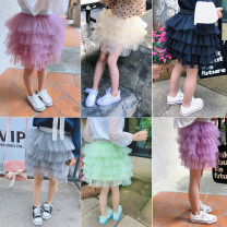 skirt Maimaiqiu female Other 100% spring and autumn skirt Korean version Solid color Cake skirt