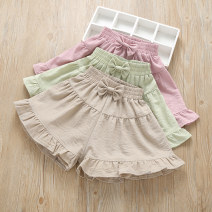 trousers Grandma tree female 110cm,120cm,130cm,140cm,150cm,160cm Green, apricot, pink summer shorts leisure time No model Casual pants Leather belt middle-waisted cotton Don't open the crotch Cotton 70% polyethylene terephthalate (polyester) 30% Class B 7, 8, 14, 3, 6, 13, 11, 5, 4, 10, 9, 12
