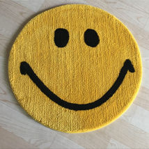 Mat chemical fiber Hand weaving Smiling face golden yellow Hand washable and machine washable Finished carpet (yuan / piece) household bedroom Korean style Others The beauty of dreamland