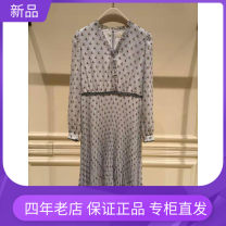 Dress Spring 2021 The flowers are blue and red S,M,L,XL,2XL Mid length dress singleton  Long sleeves V-neck Socket 30-34 years old Sefon / Chen Feng More than 95% polyester fiber