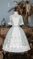 Lolita / soft girl / dress Flower and dress White, green, blue L,M,S,XL summer goods in stock