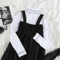 Dress Winter 2020 Backing, strap dress Average size Mid length dress Two piece set Sleeveless commute High waist Solid color Socket Big swing routine straps 18-24 years old Type A Korean version 51% (inclusive) - 70% (inclusive) other polyester fiber