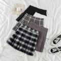 skirt Summer 2021 S,M,L Short skirt commute High waist A-line skirt lattice Type A 18-24 years old 31% (inclusive) - 50% (inclusive) other cotton Korean version