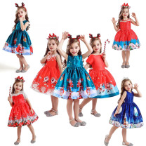 Dress Sd035a blue, sd036b red, sd037c green, sd038d blue, sd039e green, sd041g red, sd042h red, sd043j black, sd045k red, 059da green, 060da blue, 061da red, 062da red, 063da red female MQATZ 100cm,110cm,120cm,130cm,140cm,150cm Other 100% spring and autumn Europe and America Cartoon animation Class B